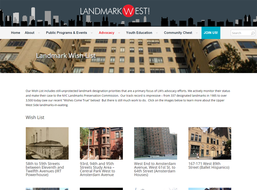Landmark West! Website